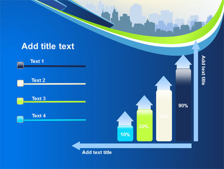 Blue Cityscape PowerPoint Template Slide 8