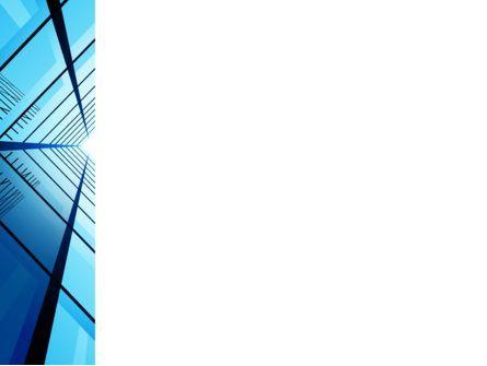 Blue Windows Of Skyscraper PowerPoint Template, Slide 3, 07562, Construction — PoweredTemplate.com