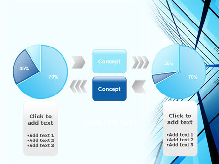 Blue Windows Of Skyscraper PowerPoint Template Slide 11