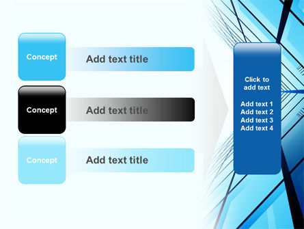 Blue Windows Of Skyscraper PowerPoint Template Slide 12