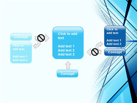 Blue Windows Of Skyscraper PowerPoint Template Slide 13