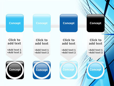 Blue Windows Of Skyscraper PowerPoint Template Slide 18