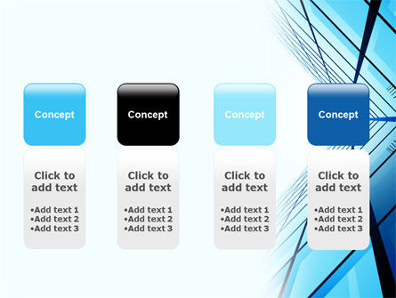 Blue Windows Of Skyscraper PowerPoint Template Slide 5