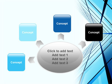 Blue Windows Of Skyscraper PowerPoint Template Slide 7
