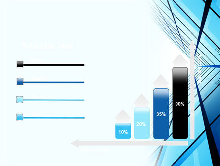 Blue Windows Of Skyscraper PowerPoint Template Slide 8