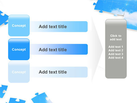 Sky Puzzle PowerPoint Template Slide 12