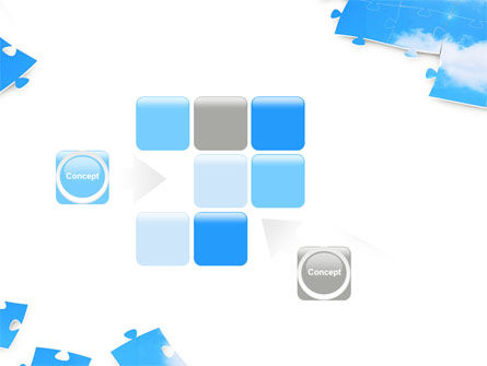 Sky Puzzle PowerPoint Template Slide 16