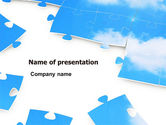 Consulting: Sky Puzzle PowerPoint Template #07563