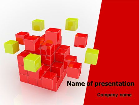 Cube Puzzle PowerPoint Template, 07565, Business Concepts — PoweredTemplate.com