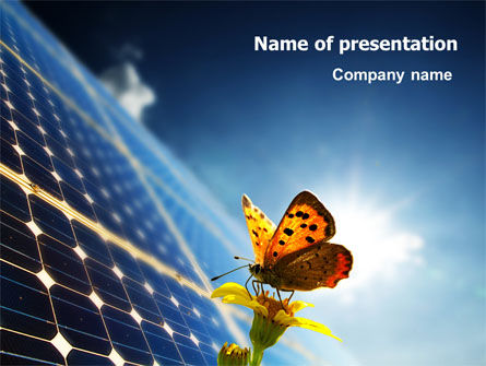 Technology and Science: Solar Power PowerPoint Template #07566