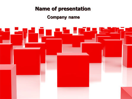 Red Cubes Free PowerPoint Template