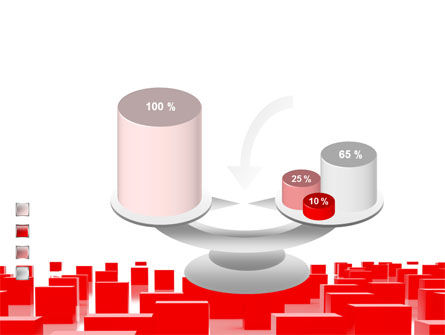 Free Red Cubes PowerPoint Template Slide 10