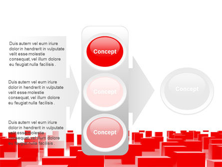 Free Red Cubes PowerPoint Template Slide 11