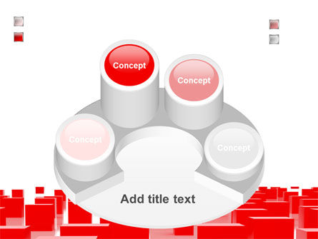 Free Red Cubes PowerPoint Template Slide 12