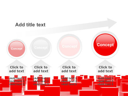 Free Red Cubes PowerPoint Template Slide 13