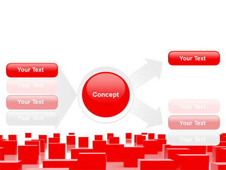 Red Cubes Free PowerPoint Template Slide 14