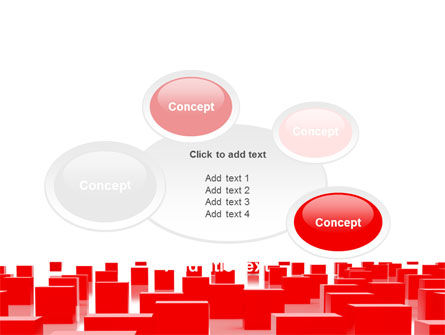 Free Red Cubes PowerPoint Template Slide 16