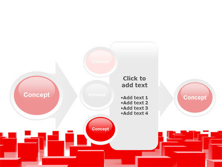 Free Red Cubes PowerPoint Template Slide 17