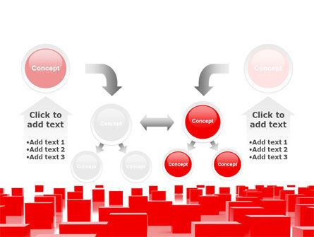 Red Cubes Free PowerPoint Template Slide 19