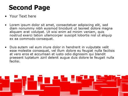 Red Cubes Free PowerPoint Template, Slide 2, 07567, Business — PoweredTemplate.com