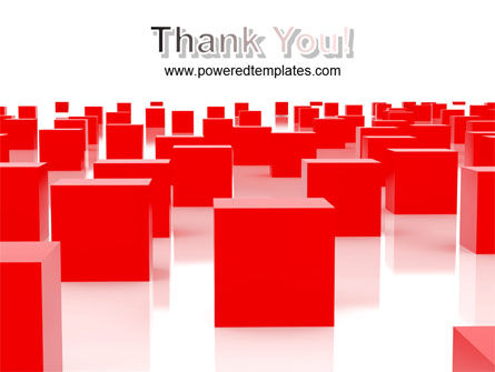 Red Cubes Free PowerPoint Template Slide 20