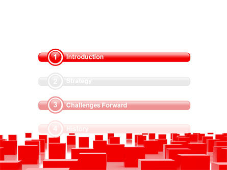 Red Cubes Free PowerPoint Template Slide 3