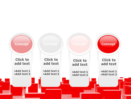 Free Red Cubes PowerPoint Template Slide 5