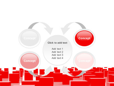 Red Cubes Free PowerPoint Template Slide 6