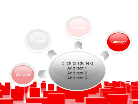 Free Red Cubes PowerPoint Template Slide 7