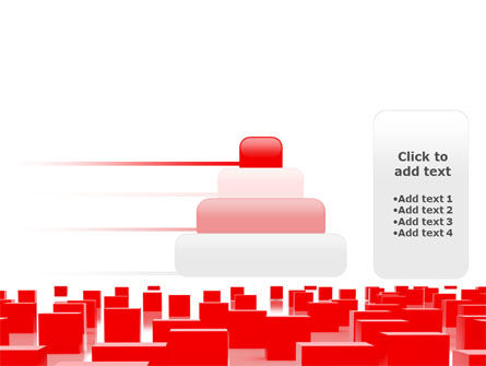 Red Cubes Free PowerPoint Template Slide 8