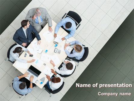 Teamwork Conference PowerPoint Template, 07569, Consulting — PoweredTemplate.com
