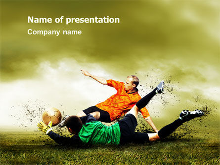 Sports: Soccer In A South Africa PowerPoint Template #07570