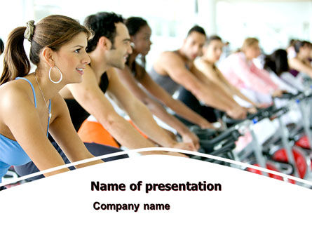 Sports: Exercising PowerPoint Template #07571