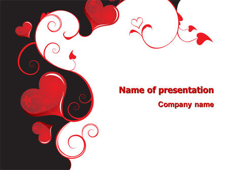 Holiday/Special Occasion: Love Heart Theme PowerPoint Template #07573