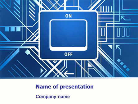 Turning On PowerPoint Template, 07575, Technology and Science — PoweredTemplate.com