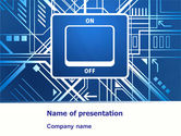 Technology and Science: Turning On PowerPoint Template #07575