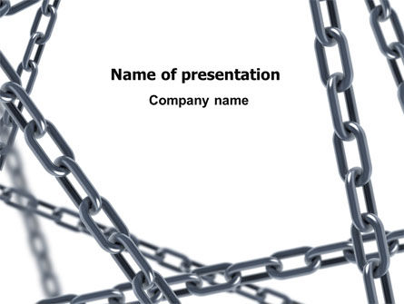 Steel Chains Crossing PowerPoint Template, 07576, Consulting — PoweredTemplate.com
