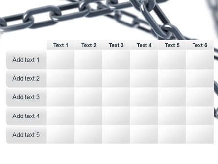 Steel Chains Crossing PowerPoint Template Slide 15