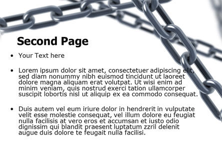 Steel Chains Crossing PowerPoint Template, Slide 2, 07576, Consulting — PoweredTemplate.com