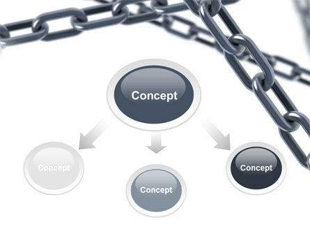 Steel Chains Crossing PowerPoint Template, Slide 4, 07576, Consulting — PoweredTemplate.com