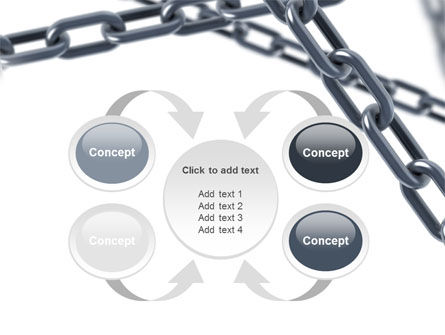 Steel Chains Crossing PowerPoint Template Slide 6