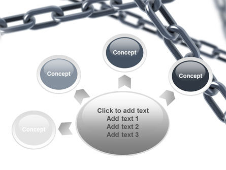 Steel Chains Crossing PowerPoint Template Slide 7