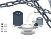Steel Chains Crossing PowerPoint Template#10