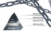 Steel Chains Crossing PowerPoint Template#12