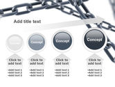 Steel Chains Crossing PowerPoint Template#13