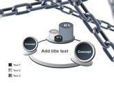 Steel Chains Crossing PowerPoint Template#16