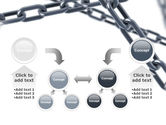 Steel Chains Crossing PowerPoint Template#19
