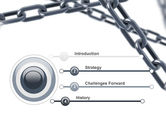 Steel Chains Crossing PowerPoint Template#3