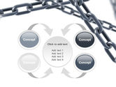 Steel Chains Crossing PowerPoint Template#6
