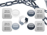 Steel Chains Crossing PowerPoint Template#9
